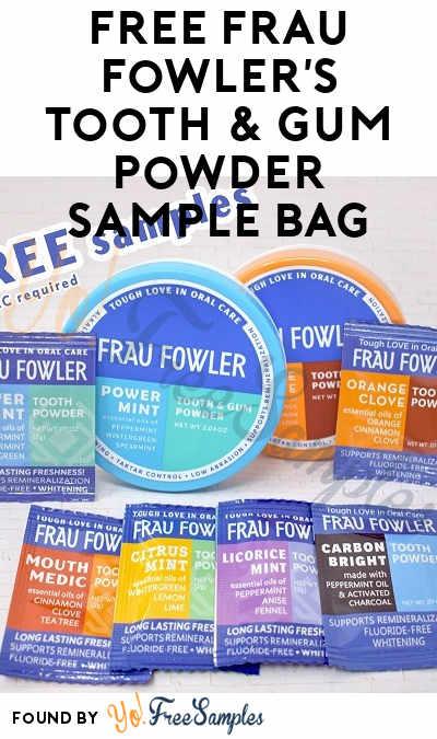 FREE Frau Fowler's Tooth & Gum Powder Sample Bag