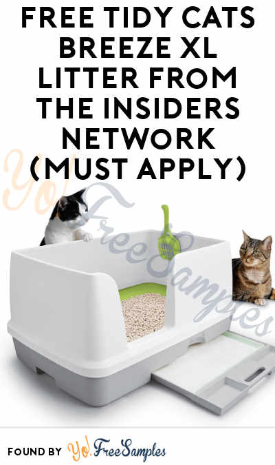 FREE Tidy Cats Breeze XL Litter From The Insiders Network (Must Apply)