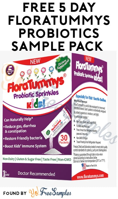 FREE Floratummys Sprinkle Powder Packets Sample Pack