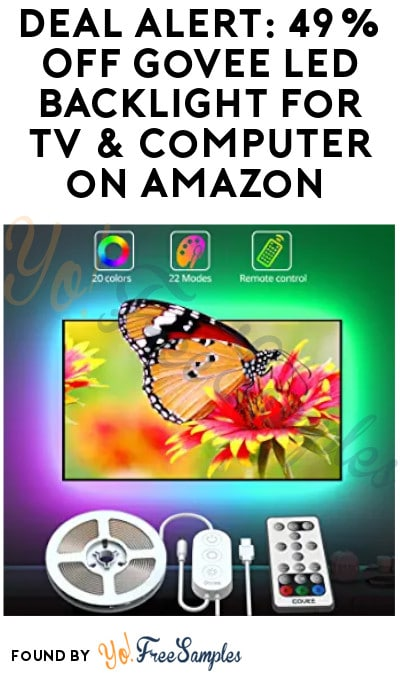 DEAL ALERT: 49% OFF Govee LED Backlight for TV & Computer on Amazon