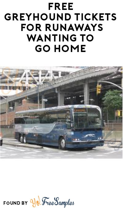 FREE Greyhound Tickets for Runaways Wanting to Go Home