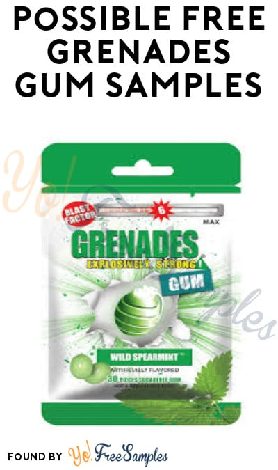 Possible FREE Grenades Gum Samples (Facebook Required)
