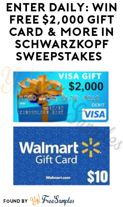 Enter Daily: Win FREE $2,000 Gift Card & More in Schwarzkopf Sweepstakes