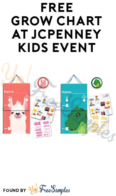 FREE Grow Chart at JCPenney Kids Event on 1/11