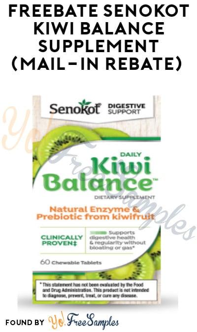 FREEBATE Senokot Kiwi Balance Supplement (Mail-In Rebate)