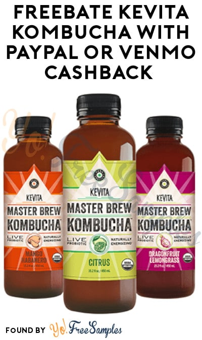 FREEBATE KeVita Kombucha with PayPal or Venmo Cashback (Text Required)