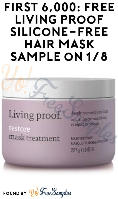 First 6,000: FREE Living Proof Silicone-Free Hair Mask Sample on 1/8 (Instagram Required)