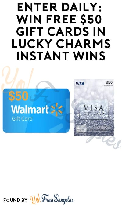 Enter Daily: Win FREE $50 Gift Cards in Lucky Charms Instant Win Game
