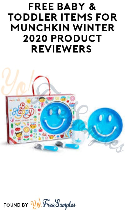 FREE Baby & Toddler Items for Munchkin Winter 2020 Product Reviewers (Must Apply)
