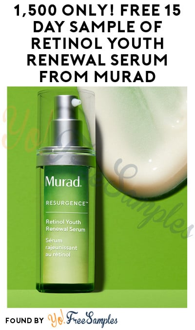 Possible FREE 15 Day Sample of Retinol Youth Renewal Serum from Murad (Instagram Required)
