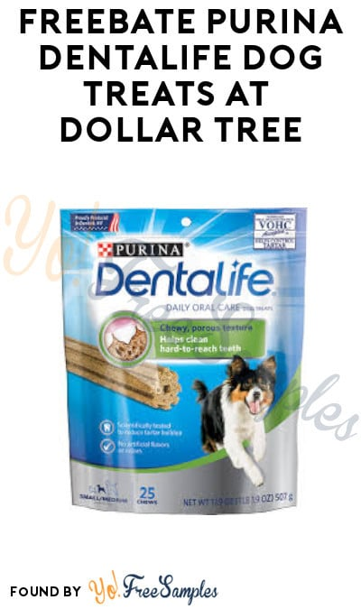 FREEBATE Purina DentaLife Dog Treats at Dollar Tree (Coupon Required)