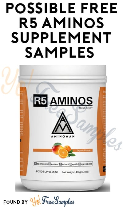 Possible FREE R5 Aminos Supplement Samples