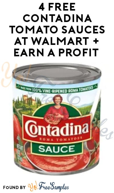 4 FREE Contadina Tomato Sauces at Walmart + Earn A Profit (Ibotta Required)