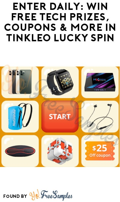 Enter Daily: Win FREE Tech Prizes, Coupons & More in Tinkleo Lucky Spin
