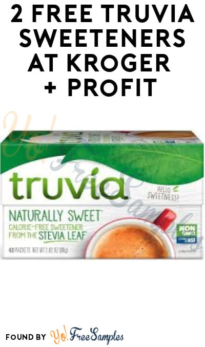2 FREE Truvia Sweeteners at Kroger + Profit (Account, Coupon & Ibotta Required)