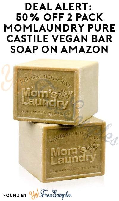 DEAL ALERT: 50% Off 2 Pack MomLaundry Pure Castile Vegan Bar Soap on Amazon