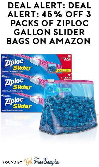 DEAL ALERT: 45% Off 3 Packs of Ziploc Gallon Slider Bags on Amazon