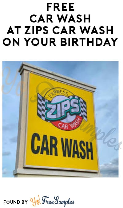FREE Car Wash at Zips Car Wash on Your Birthday (App Required)