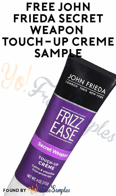 FREE John Frieda Secret Weapon Touch-Up Crème Sample (Review Required)