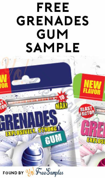 FREE Grenades Gum Sample