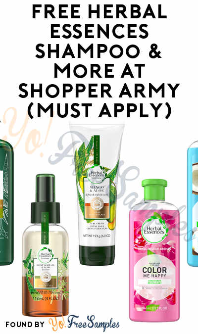 FREE Herbal Essences Shampoo & More At Shopper Army (Must Apply)
