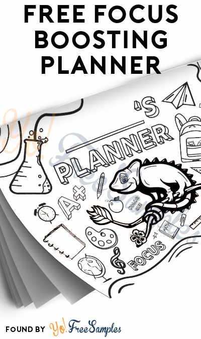 FREE Focus Boosting School Planner
