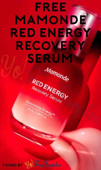 Possible FREE Mamonde Red Energy Recovery Serum At BzzAgent