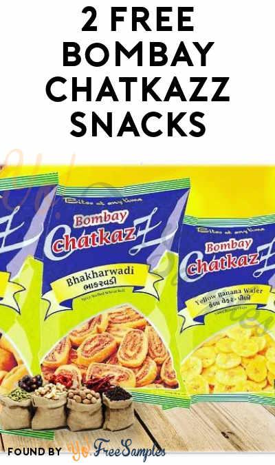 2 FREE Bombay Chatkazz Snacks