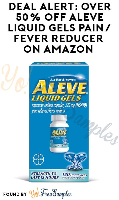 DEAL ALERT: Over 50% Off Aleve Liquid Gels Pain/Fever Reducer on Amazon (Subscribe & Save + Clippable Coupon Required)