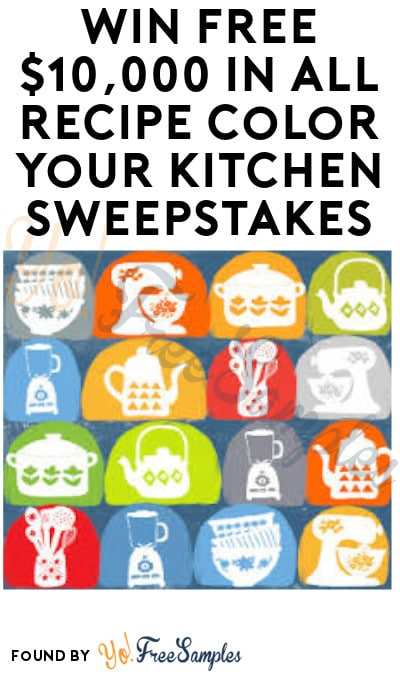 Win FREE $10,000 in All Recipe Color Your Kitchen Sweepstakes