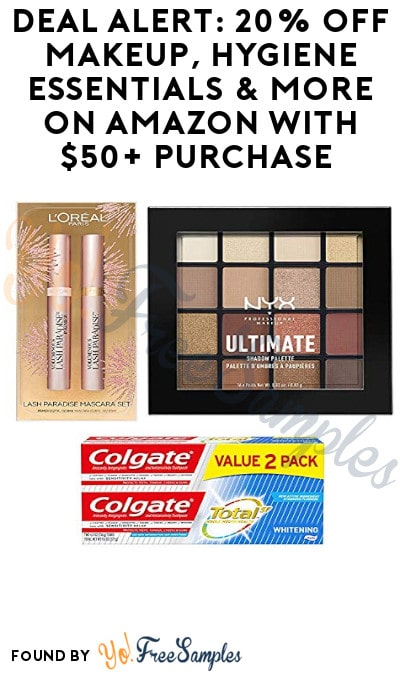DEAL ALERT: 20% Off Makeup, Hygiene Essentials & More On Amazon with $50+ Purchase