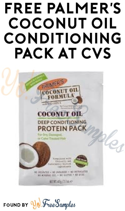 FREE Palmer's Coconut Oil Conditioning Pack at CVS (Account/App Required)