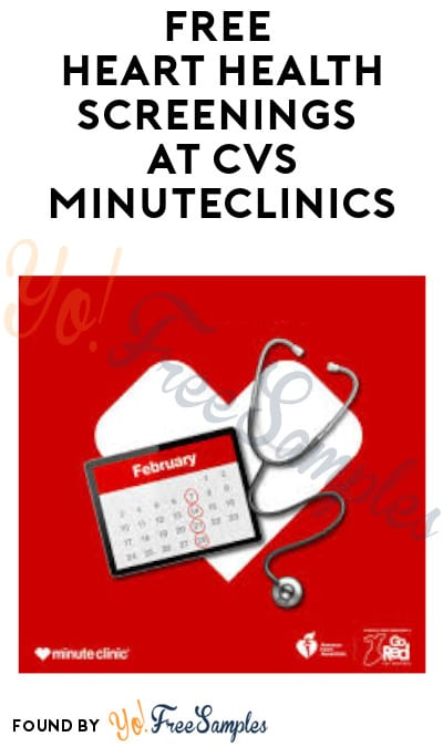 FREE Heart Health Screenings at CVS MinuteClinics