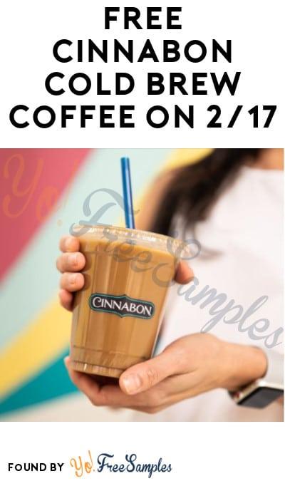 FREE Cinnabon Cold Brew Coffee on 2/17
