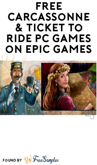 FREE Carcassonne & Ticket to Ride PC Games on Epic Games (Account Required)