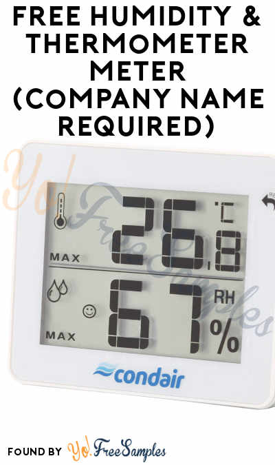 FREE Humidity & Thermometer Meter (Company Name Required)