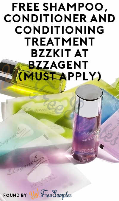 FREE Shampoo, Conditioner and Conditioning Treatment BzzKit At BzzAgent (Must Apply)