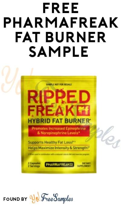 FREE Pharmafreak Fat Burner Sample