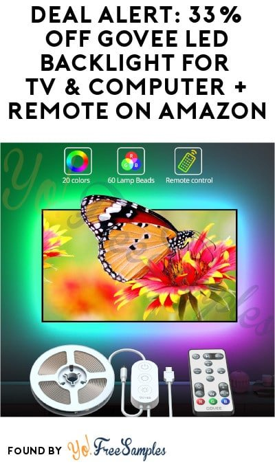 DEAL ALERT: 33% OFF Govee LED Backlight for TV & Computer + Remote on Amazon (Code Required)