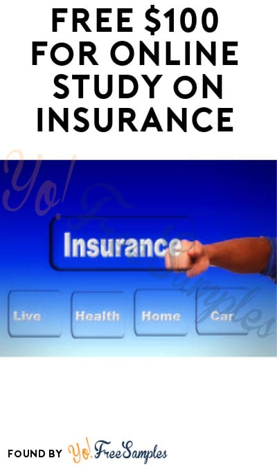 FREE $100 for Online Study on Insurance (Must Apply)