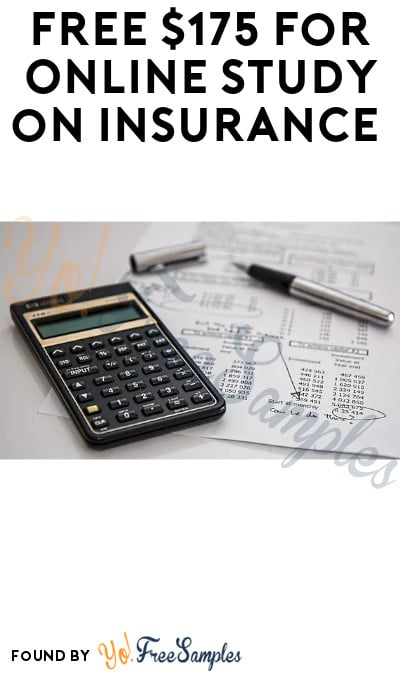 FREE $175 for Online Study on Insurance (Must Apply)