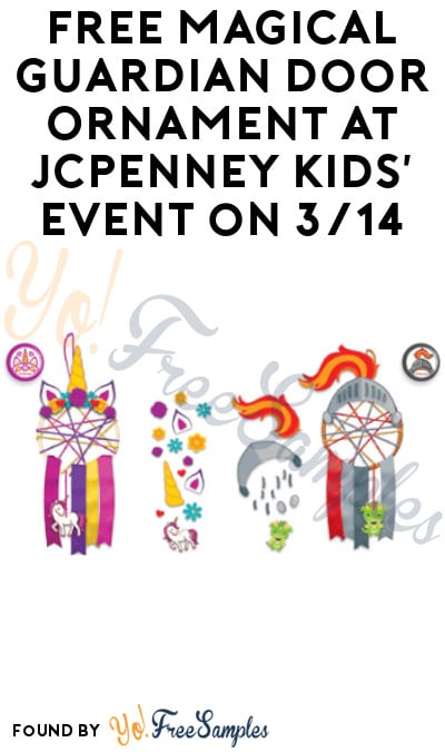 FREE Magical Guardian Door Ornament at JCPenney Kids' Event on 3/14