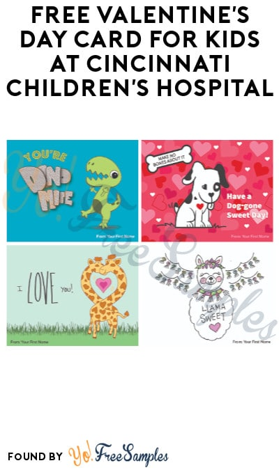 FREE Valentine's Day Card for Kids at Cincinnati Children's Hospital