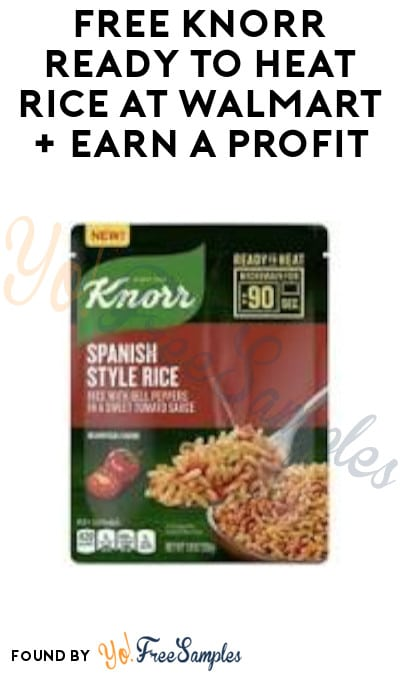 FREE Knorr Ready to Heat Rice at Walmart + Earn A Profit (Fetch Rewards & Ibotta Required)