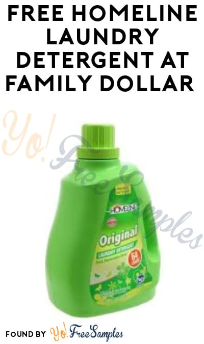 FREE Homeline Laundry Detergent at Family Dollar (App Required)