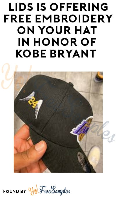 Lids is Offering FREE Embroidery on Your Hat in Honor of Kobe Bryant