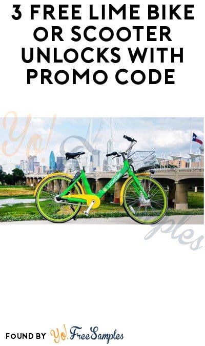 3 FREE Lime Bike or Scooter Unlocks with Promo Code (App Required)
