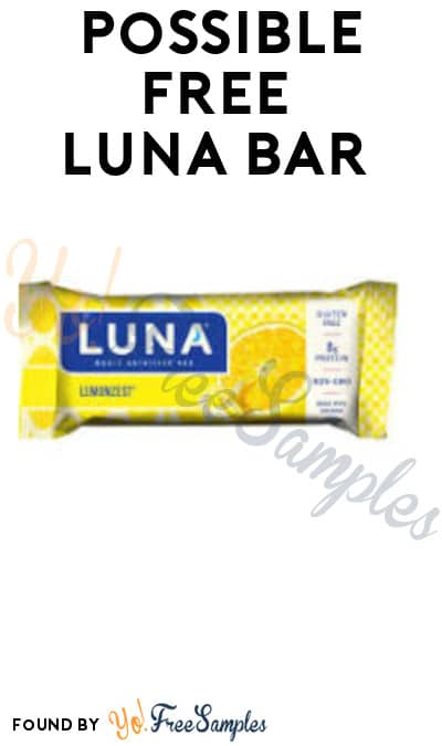 Possible FREE Luna Bar (Facebook Required)