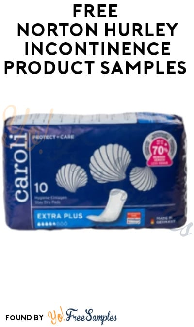 FREE Norton Hurley Incontinence Product Samples