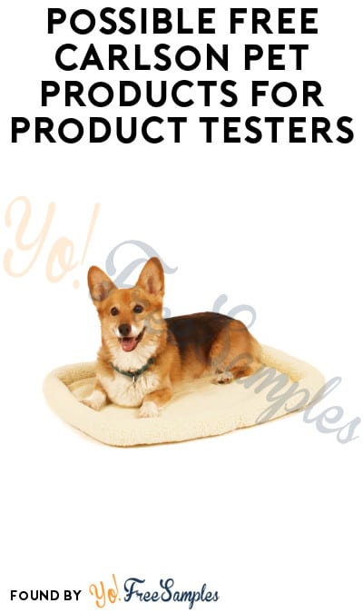 Possible FREE Carlson Pet Products for Product Testers (Must Apply)